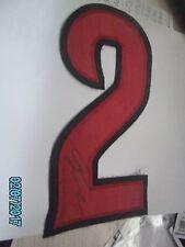 Jesse Winker Reds Autographed #2 Jersey Number Red-Black w/COA+Proof-WP Jsa Psa