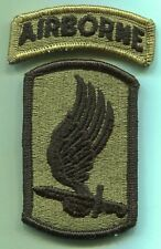 173rd Airborne Brigade w/ Airborne Tab OCP Multicam Patch -W/Hook Back U.S. Army
