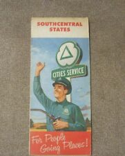 New ListingVintage Cities Service map 1958 Southcentral States Vintage map