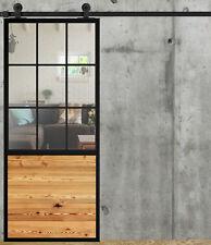 Ink. System Schiebetür LOFT FRENCH Stahl Glas/Holz Industrial-LoftMarkt