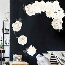 Modern 3D Peony Flower Wall Sticker TV Background Bedroom Mural Decal Decor Wort