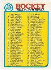 1982-83 OPC HOCKEY #121 CHECKLIST 1-132 - NEAR MINT