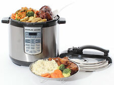 Electric 7In1 Pressure Cooker 8 Litre 1250W Brushed Stainless Steel Rice Cooker