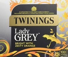 2 boxes Twinings Lady Grey 100 Tea Bags Non Enveloped NEW PACKAGING