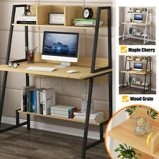 Home Computer Desk Table Bookshelf Office Coffee Study Work Storage Cabinet DIY