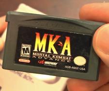 Nintendo GBA Video Game Console Card Cartridge Mortal Kombat Advance