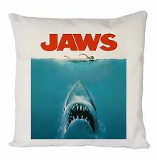 FUNNY JAWS MOVIE POSTER CUSHION COVER PILLOW CASE FASHION IDEAL GIFT PRESENT