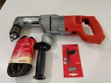 "Milwaukee 1107-1 Heavy Duty Corded 1/2"" Right Angle Drill Used"