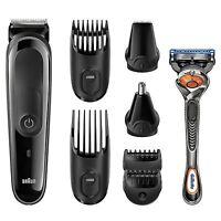 Braun Gillette Multi Pflege Rasierer Set 8 in 1 Herren Bart Haar Modellieren