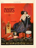 1923 ORIGINAL VINTAGE VIVAUDOU MAVIS FRAGRANCE & COSMETICS MAGAZINE AD