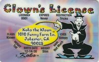 Official CLOWN drivers License id card KOKO the KLOWN driver's i.d. Betty Boop