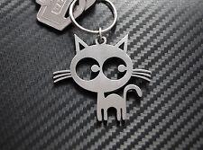PUSSY CAT Moggy Puss Feline Cat Lover Chat Noir Keyring Keychain Key Fob Gift