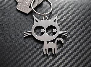 CAT 2 Cat Lover Chat Noir Keyring Keychain Gift