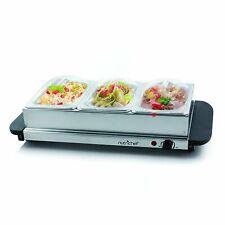 NutriChef 3 Buffet Warmer Server - Professional Hot Plate Food Warmer Station...