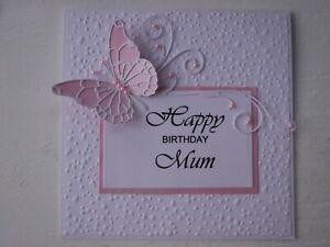 PERSONALISED BUTTERFLY HANDMADE GREETINGS/BIRTHDAY CARD - MUM/SISTER/WIFE/FRIEND