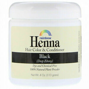 Rainbow Research Henna- Hair Color And Conditioner, Black, 4 Oz (113 G) I