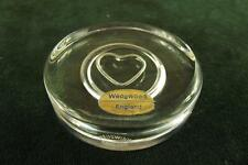 Beautiful Clear Glass round with love heart paperweight Wedgwood