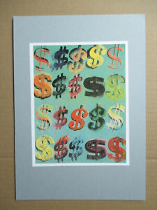 Andy Warhol serigraphic print 1988 'Dollar Signs' - Pop Art Culture - Mint  !!