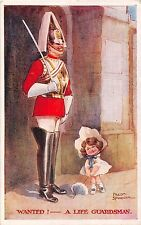 POSTCARD  COMIC  CHILDREN & ARMY  Related  wanted !                SPURGIN