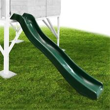 Outdoor Kids Playground Childrens Garden Plastic Wavy Slide 178cm Forest Green