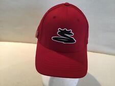 Cobra Unisex Hat Golf Baseball Magnetic Ball Marker Red White Cap Flex Fit S M
