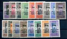 TOGO 1916 Yvert 84-100 * SATZ KOMPLETT 75€(F1508