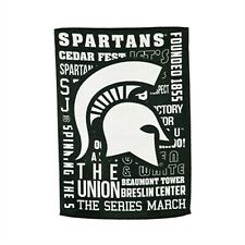 Michigan State Spartans Fan Rules Premium 2-sided 28x44 Banner Flag University