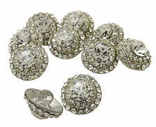 Decorative Round Shape Clothing Sewing Crafting Metal Buttons Set of 10 Pcs