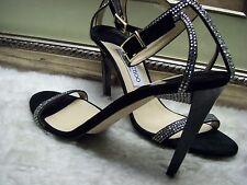 Jimmy Choo Daisy Crystal-Studded Sandal Shoes 39.5 $1095