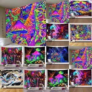 Psychedelic Trippy Wandbehang Wandteppich Tuch Tapisserie Dekoration Strand Mat
