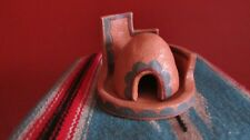 NATIVE AMERICAN POTTERY KIVA INCENSE BURNER DATED & SIGNED BY D.E.M. MADE IN  NM