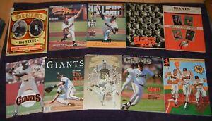 VINTAGE  Lot of 10 SAN FRANCISCO GIANTS  Baseball PROGRAMS Magazines SCORECARDS