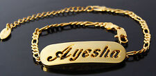 AYESHA - Bracelet With Name - 18ct Yellow Gold Plated - Gifts For Her - Fashion