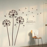 Removable Flying Dandelion PVC Mural Art Decal Wall Sticker Room Home Decor DIY