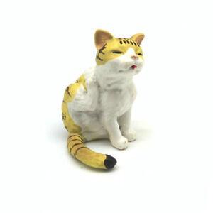 Dollhouse Resin Pet Tickle Cat 1:6 Miniature Decor Simulation Animal