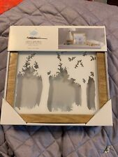 Cloud Island Wood Frame Led Light Box, Hangs or Stands Up