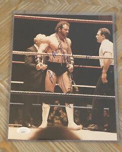 HERCULES HERNANDEZ WWF WRESTLING LEGEND SIGNED AUTOGRAPHED 8X10 PHOTO JSA CERT