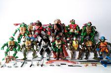 TMNT Ninja Turtles Huge Lot of 20 Figures & w/ Weapons 2000's Playmates