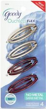 Goody Womens Ouchless Flex Small Contour Slide Barrettes 4CT - Color May Vary