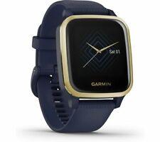 GARMIN Venu Sq Music Edition Smartwatch Silicone Strap Light Gold & Navy Currys