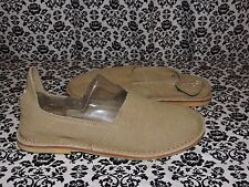 SUS Esse Ut Esse Khaki Canvas Basic Slip On Womens MEDIUM US 9.5 EURO 40 NEW
