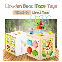 55 Songs Wooden Baby Kids Children's Activity Educational Bead Maze Toys Gift ❤