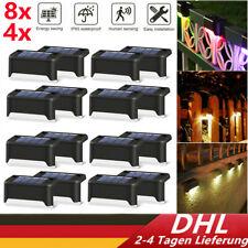 8x4x LED Solarleuchten Zaunleuchte Wandlampen Gartenleuchte Außen Treppen Lampes