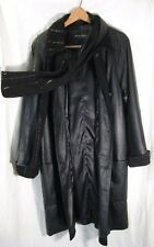 Gorgeous Vintage Genuine Leather by ROBERTO GIANNI Woman's/Mens Black Coat