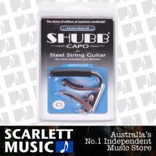Shubb C1 ( C-1 ) Original Nickel Finish Capo For Steel String Acoustic Guitars