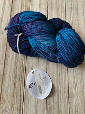 Ella Rae LACE MERINO fingering yarn #143 Blue - Made in Italy