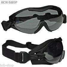 MFH Motorradbrille Bikerbrille Sportbrille Augenschutzbrille Helikopter schwarz