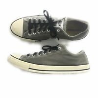 Converse Mens Gray Canvas Low Top All Star Sneakers, Mens Size 11