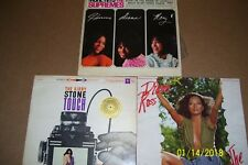 Lot of THREE Vintage Pre Owned Vinyl Lp Albums: Supremes, Ross, Kirby Stone Four