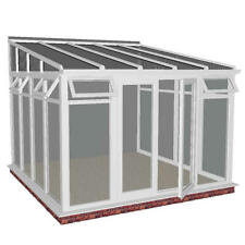 4m x 3.0m DIY LEAN TO -  FULL HEIGHT GLASS CONSERVATORY**ALL SIZES AVAILABLE***